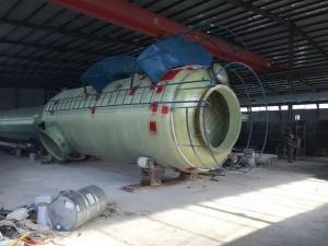 玻璃钢脱硫塔生产中